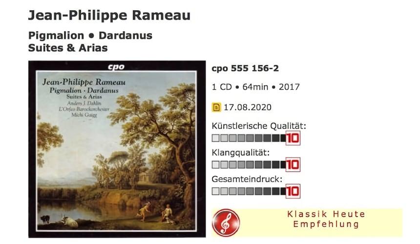 Klassik-heute.de, Rameau Mit L'Orfeo